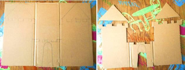 Замок-поделка-из-картона-своими-руками