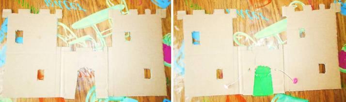 Замок поделка из картона своими руками