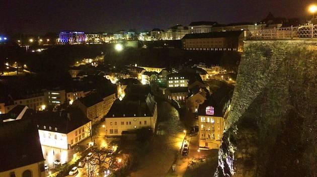 Люксембург зима вид города